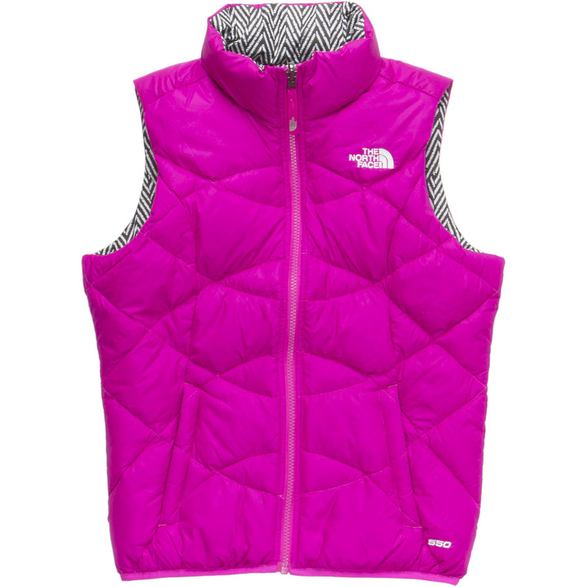 photo: The North Face Boys' Reversible Moondoggy Vest down insulated vest