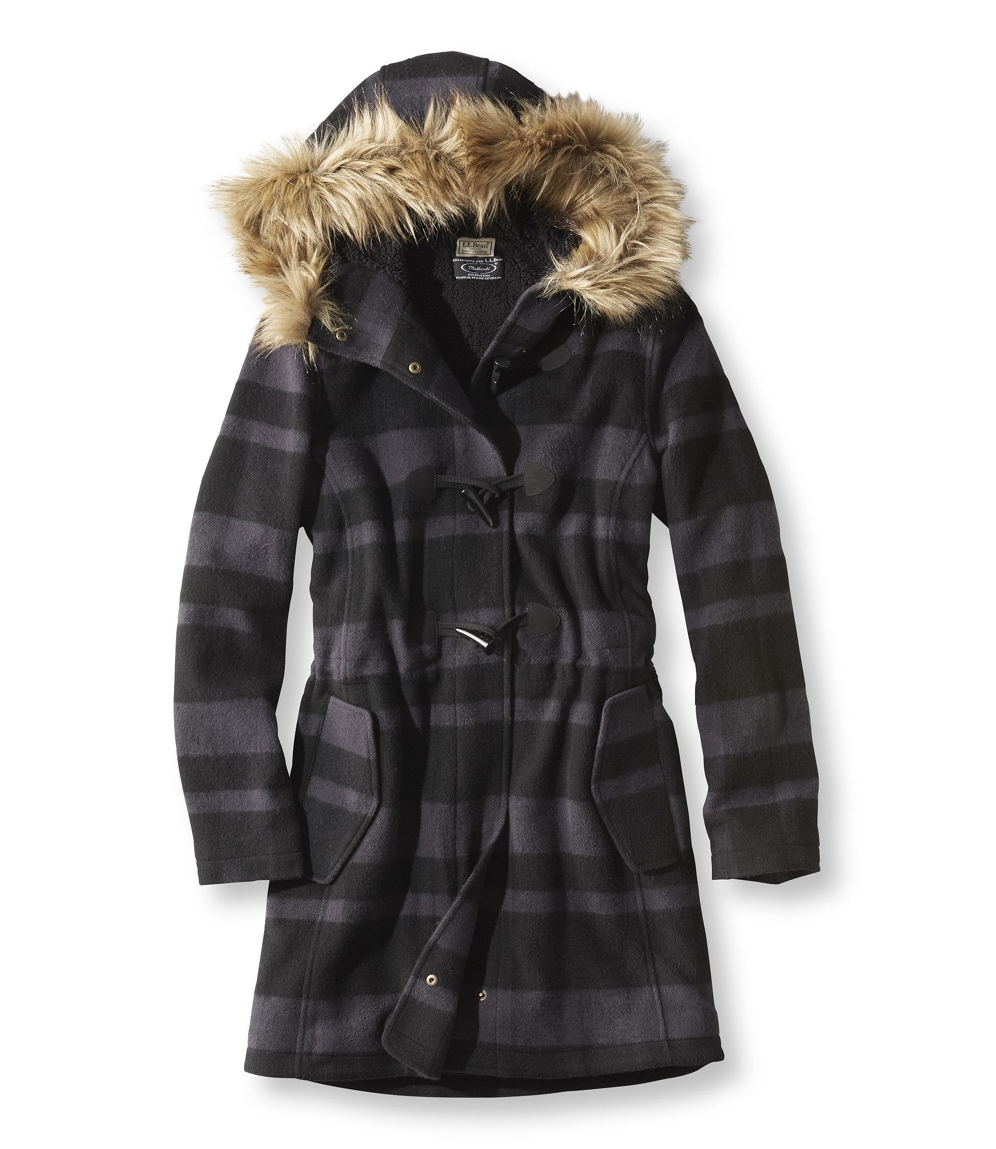 L.L.Bean Plaid Cabin Coat
