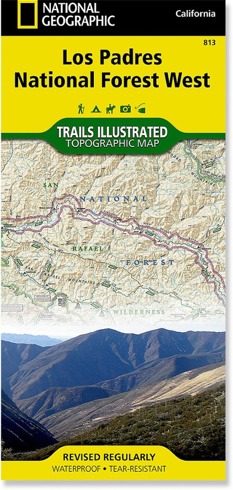 National Geographic Los Padres National Forest, West Trail Map