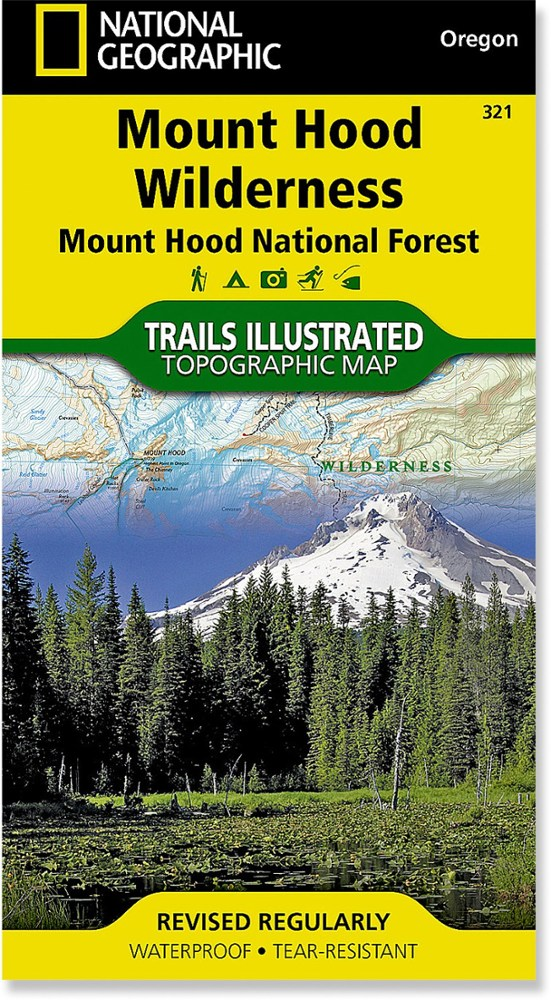 National Geographic Mount Hood Wilderness Trail Map