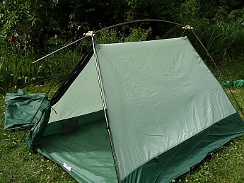 It gets attached to the body with four clips then stakes out. The Timberline comes with eight steel stakes. Eight stakes for a  freestanding  tent? & Eureka! Timberline 2 Reviews - Trailspace.com