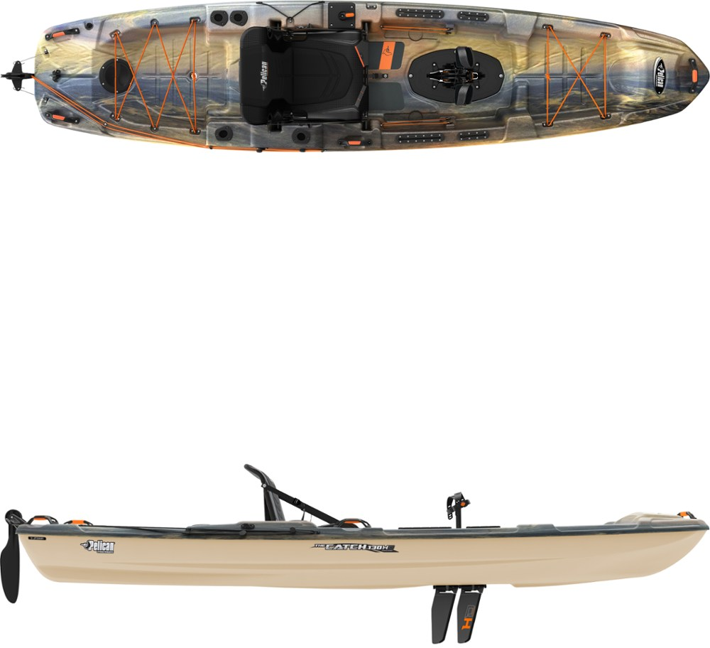 photo: Pelican Sport The Catch 130 Hydryve sit-on-top kayak