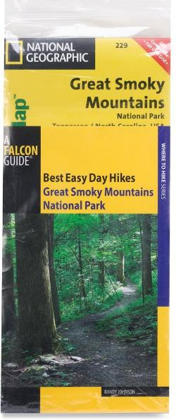 photo: National Geographic Hiking Guide and Trail Map Bundle: Great Smoky Mountains National Park us south paper map