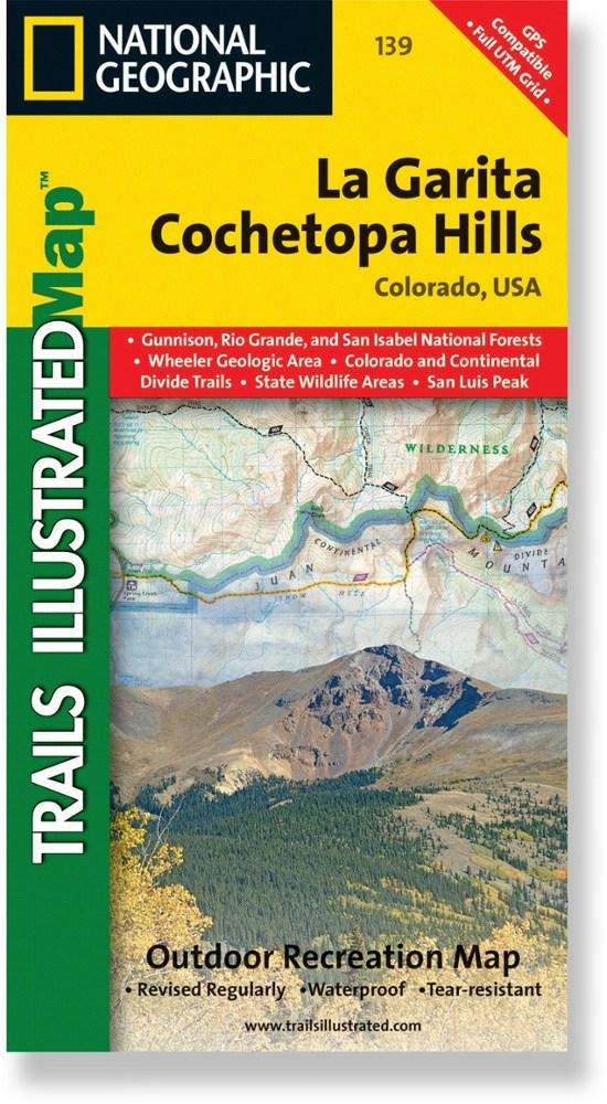 National Geographic La Garita/Cochetopa Hills Trail Map