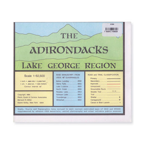 photo: Adirondack Maps Lake George Region Map us northeast paper map