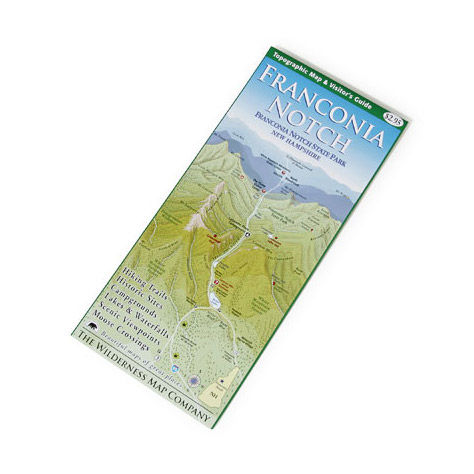 photo: Wilderness Map Co. Franconia Notch, NH, Map us northeast paper map