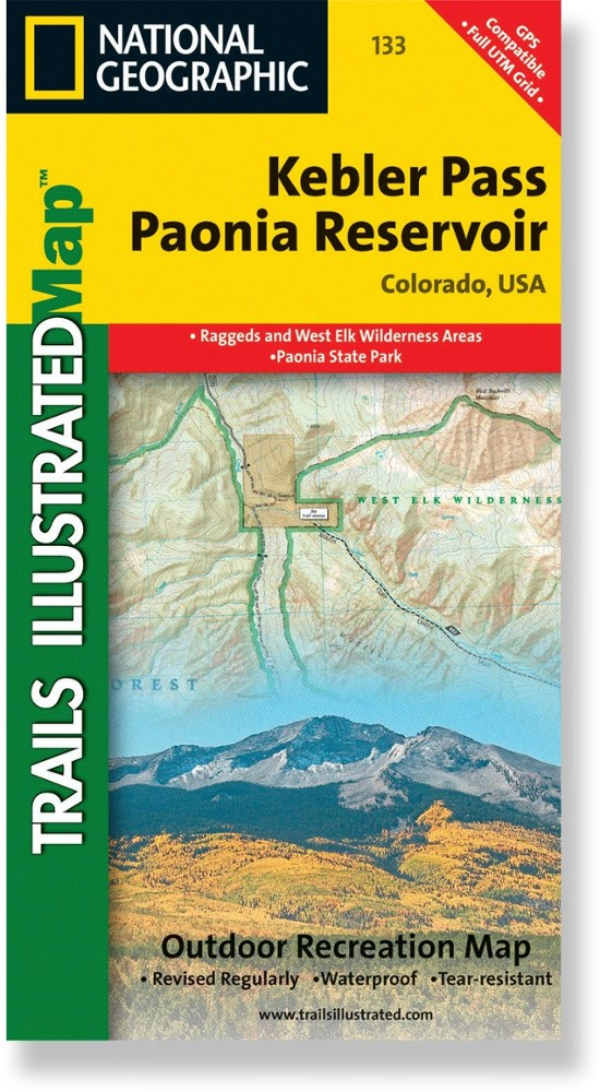 National Geographic Kebler Pass/Paonia Reservoir Trail Map