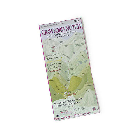 photo: Wilderness Map Co. Crawford Notch State Park NH Map us northeast paper map