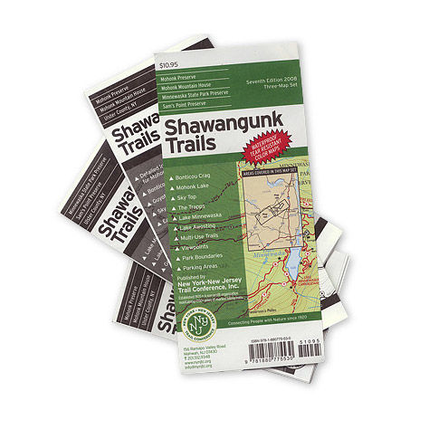 photo: NY-NJ Trail Conference Shawangunk Trails us northeast paper map