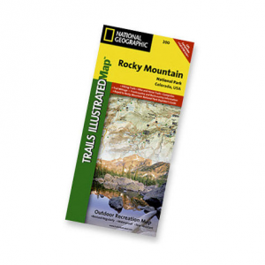 photo: National Geographic Rocky Mountain National Park Map us mountain states paper map