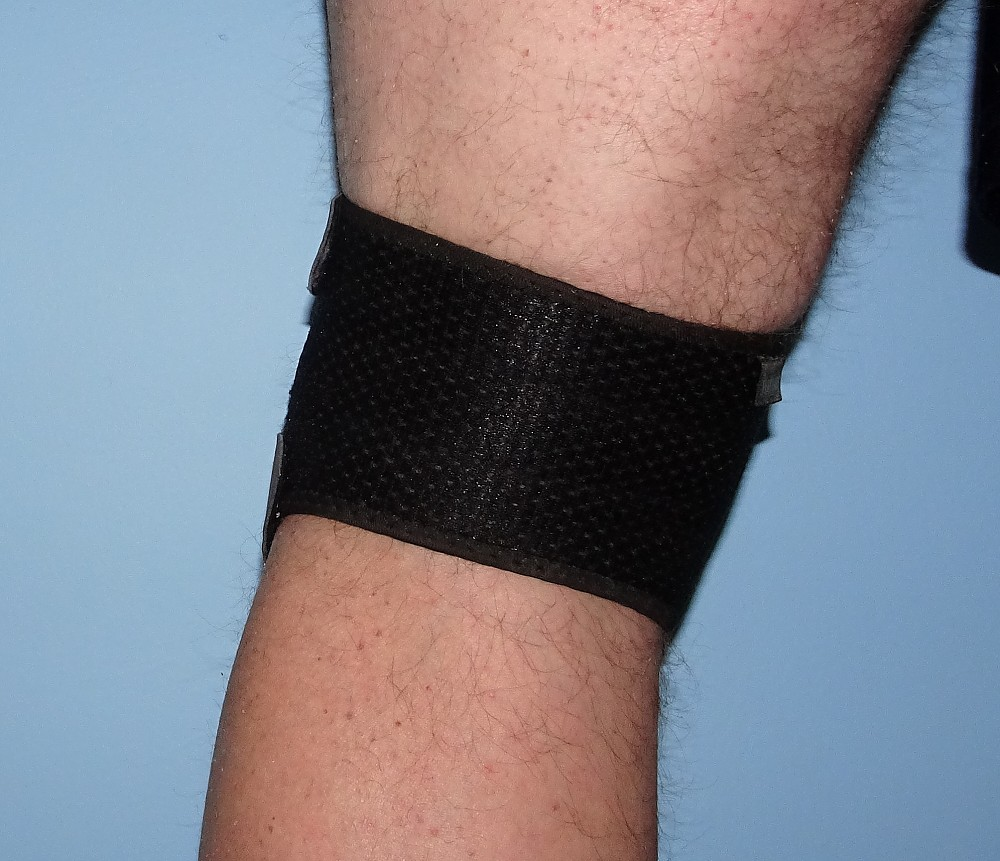 photo:   Futuro Dual Strap Knee Support safety gear