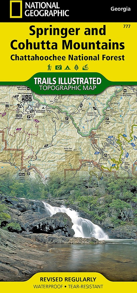 National Geographic Springer and Cohutta Mountains Trail Map