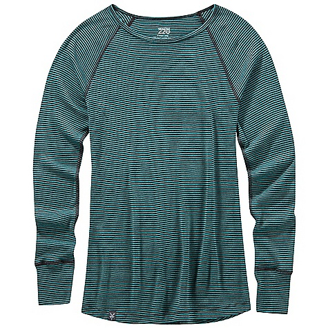 photo: Ibex Women's Woolies 220 Crew base layer top