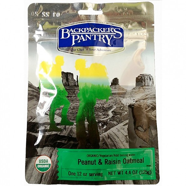 Backpacker's Pantry Organic Peanut Butter & Raisin Oatmeal
