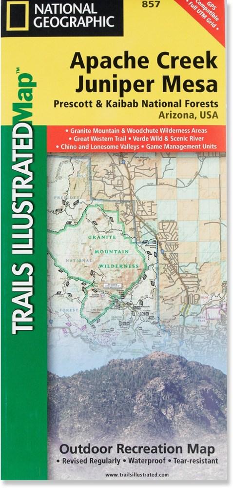 National Geographic Apache Creek & Juniper Mesa Map