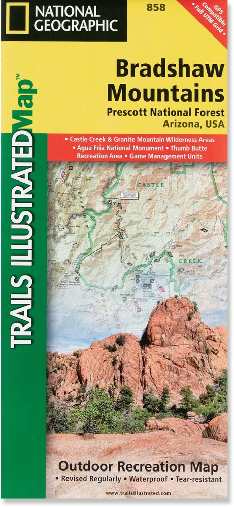 National Geographic Bradshaw Mountains: Prescott National Forest Map