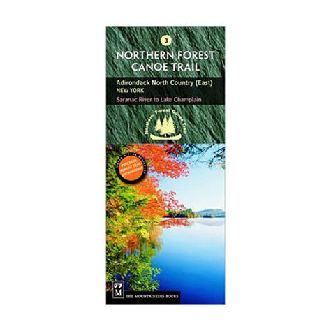 photo: The Mountaineers Books Northern Forest Canoe Trail Map #3 - Adirondack North Country (East) us northeast paper map