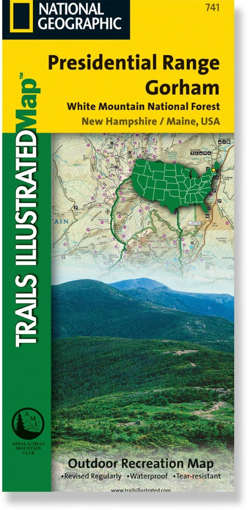 National Geographic Presidential Range/Gorham Map