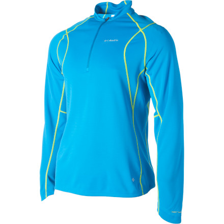 photo: Columbia Men's Bug Shield Sporty 1/2 Zip long sleeve performance top
