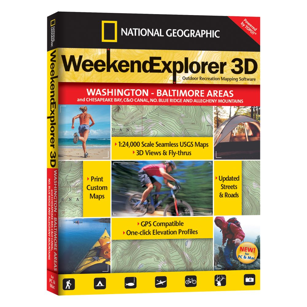 photo: National Geographic Weekend Explorer 3D - Washington D.C. & Baltimore Areas CD-ROM us south map application