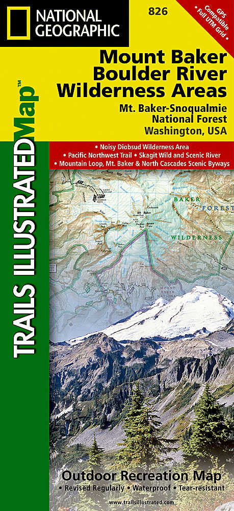 National Geographic Mount Baker and Boulder River Wilderness Areas Map