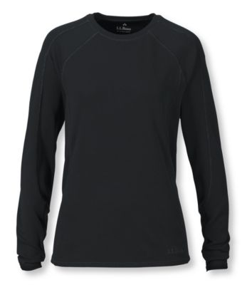 L.L.Bean Power Dry Stretch Base Layer, Midweight Long-Sleeve Crew