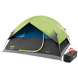 photo: Coleman 6-Person Dark Room Sundome Tent three-season tent
