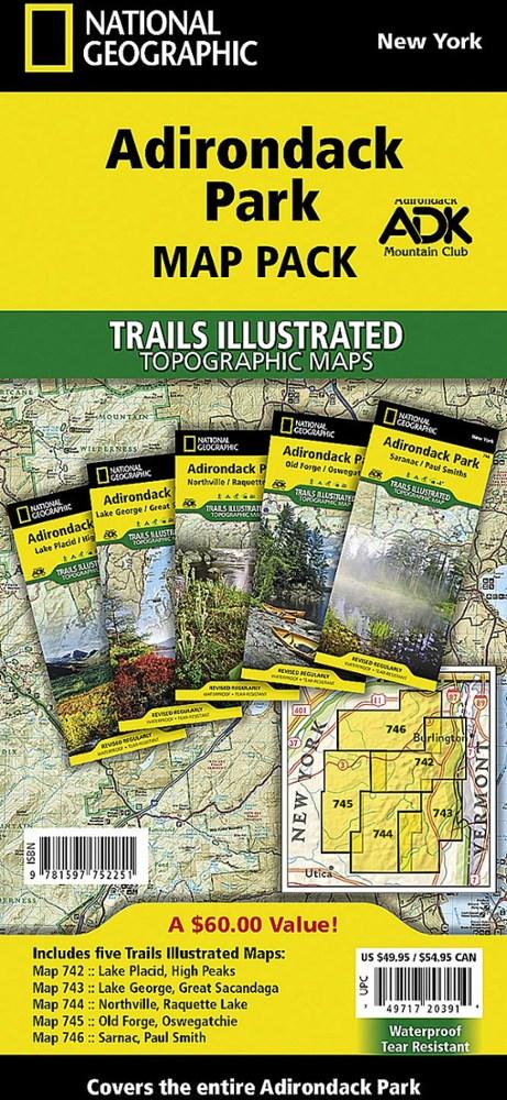 National Geographic Adirondack Park Map Pack
