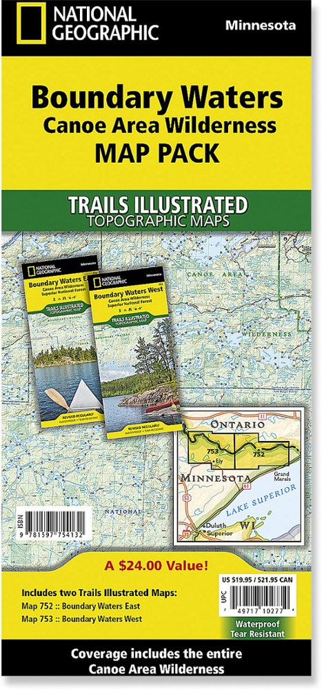 National Geographic Boundary Waters Canoe Area Wilderness Map Pack