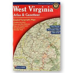 photo: DeLorme West Virginia Atlas and Gazetteer us south paper map