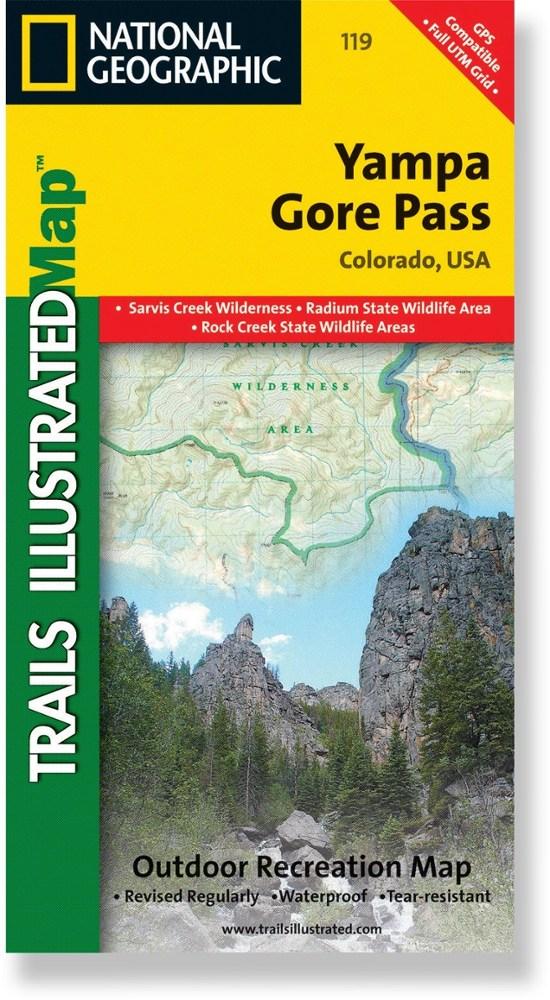 National Geographic Yampa/Gore Pass Trail Map