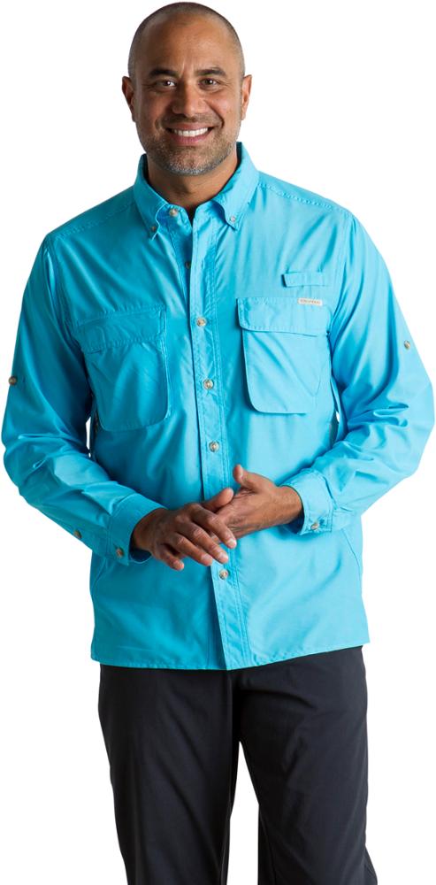 photo: ExOfficio Men's Air Strip Lite Long Sleeve Shirt hiking shirt