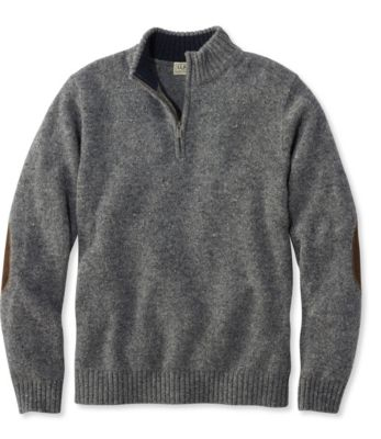 L.L.Bean Shetland Wool Sweater, Quarter Zip