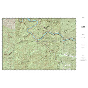 MyTopo Waterproof Topo Map Tapoco