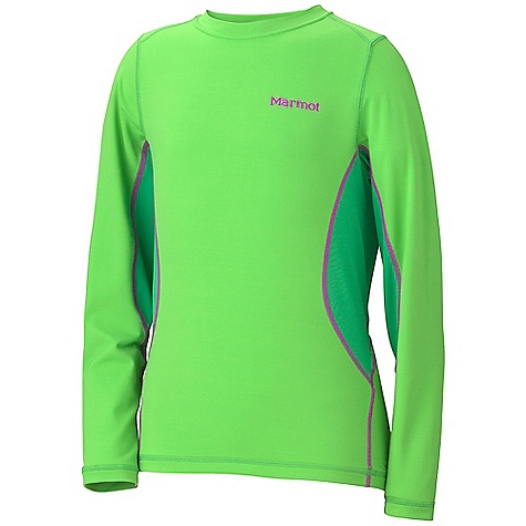 photo: Marmot Girls' DriClime Crew LS base layer top