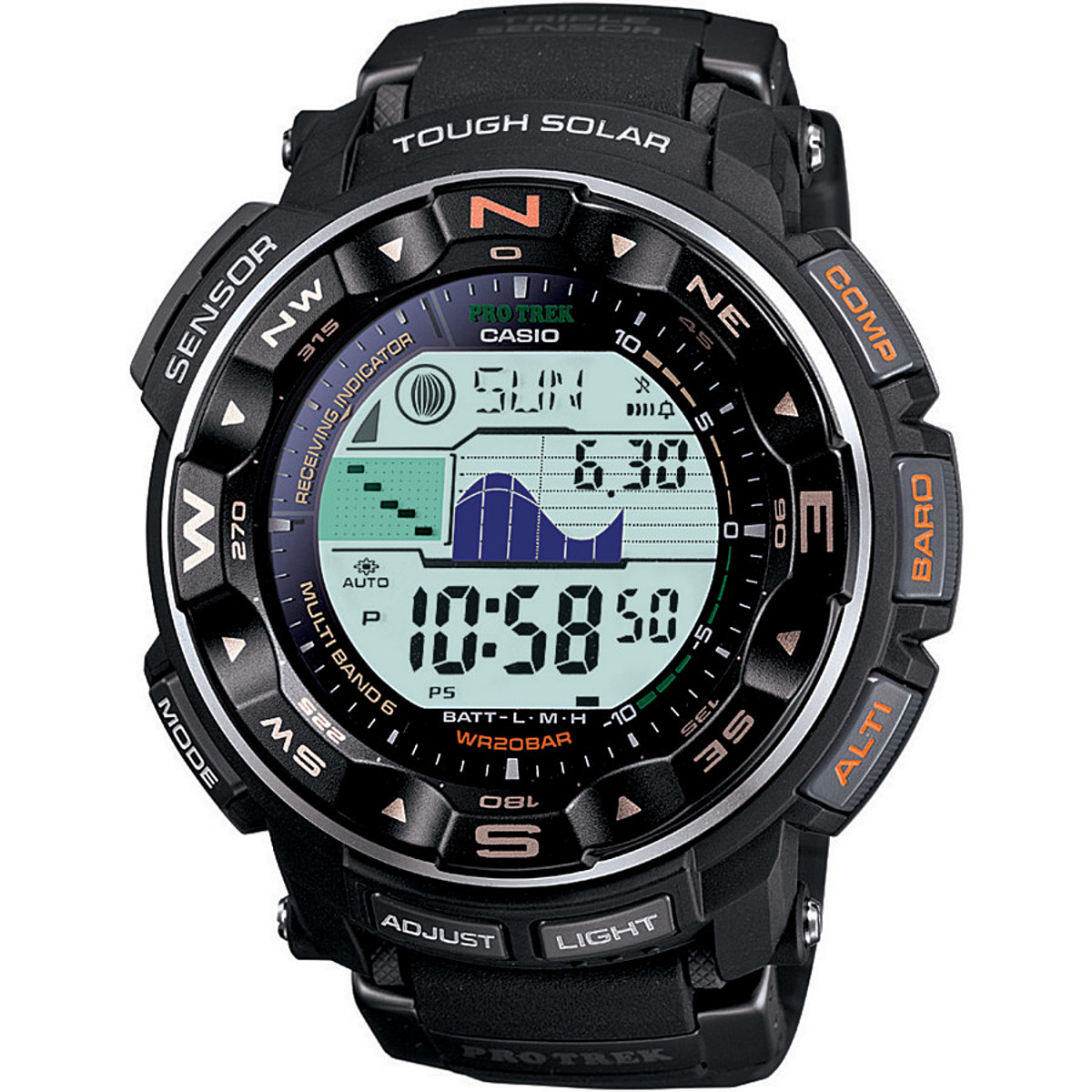 photo: Casio PRW2500-1 compass watch