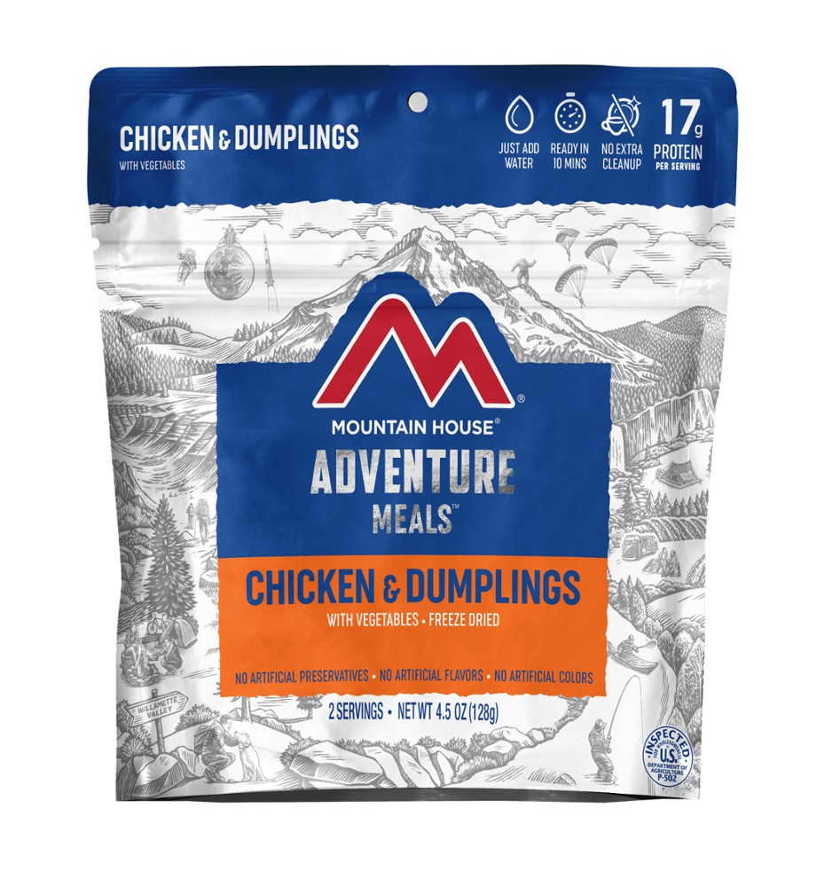 photo: Mountain House Chicken and Dumplings meat entrée