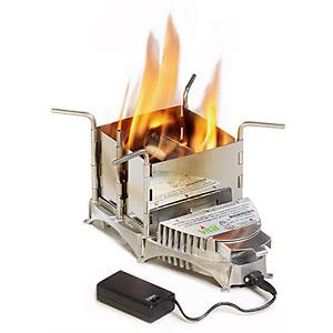 photo of a SolHuma solid fuel stove