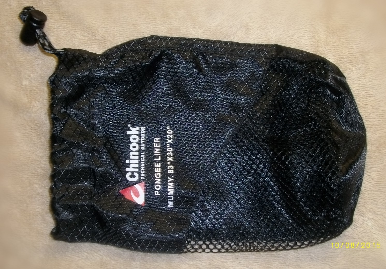 photo: Chinook Pongee Mummy Liner sleeping bag liner