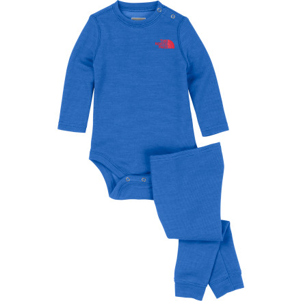 photo: The North Face Kids' Infant Baselayer Set one-piece base layer