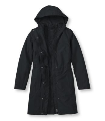 L.L.Bean H2Off Rain Coat, PrimaLoft-Lined