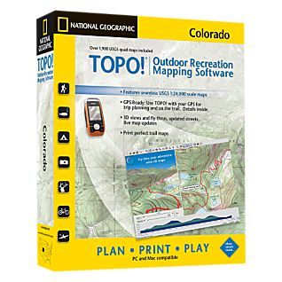 photo: National Geographic TOPO! Colorado CD-ROM us mountain states map application