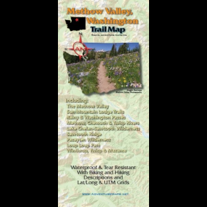 photo: Adventure Maps Methow Valley Trail Map us pacific states guidebook