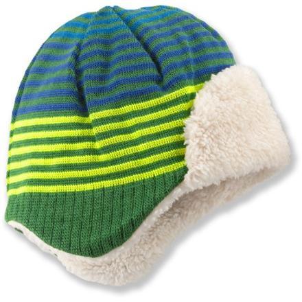 photo: REI Striped Knit Aviator Hat winter hat