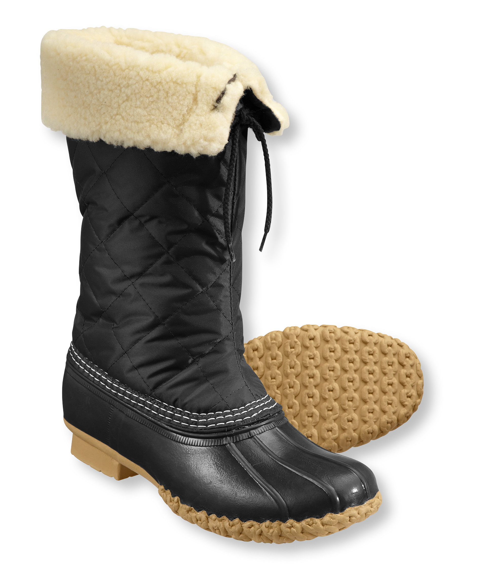 photo: L.L.Bean Bean Boots, Quilted Faux-Shearling-Lined winter boot