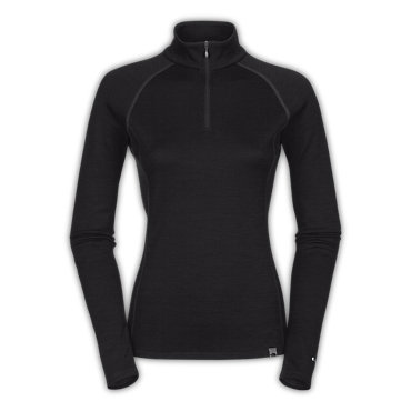 photo: The North Face Women's Warm Merino Zip Neck base layer top