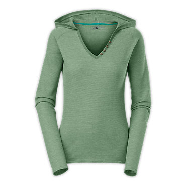 The North Face Long-Sleeve Willow Green Hooded Shirt