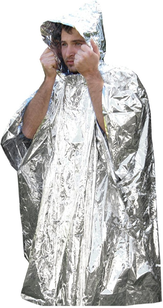 photo: Ultimate Survival Technologies Survival Reflect Poncho emergency shelter