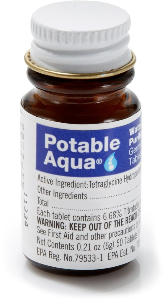 Potable Aqua Iodine Tablets