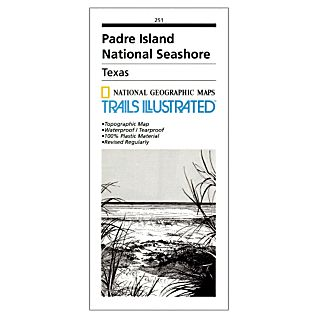 National Geographic Padre Island National Seashore Trail Map